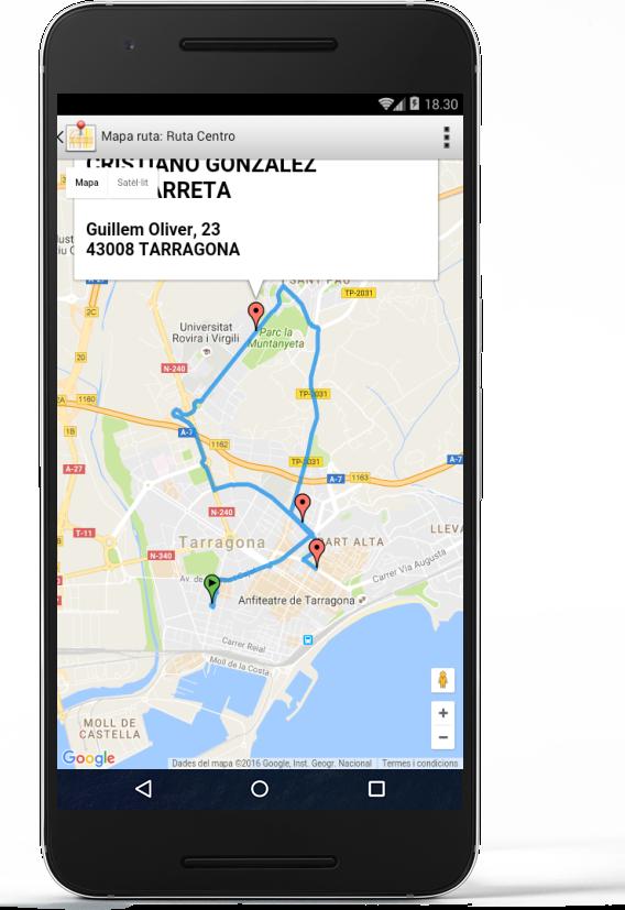 iGes Mapa de rutas