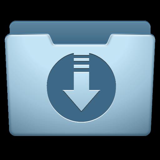 carpeta blava icona descàrrega